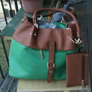 Brand new Black Rivet large leather purse